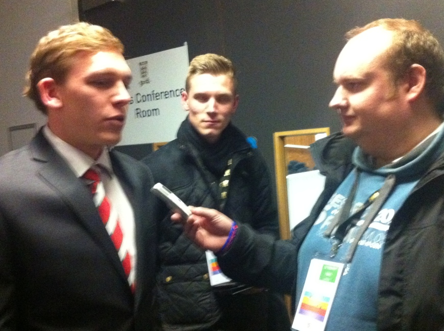 Alex works the Wembley mixed zone.