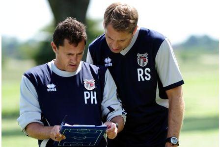Paul Hurst and Rob Scott check the A&E list