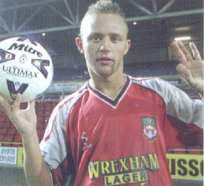 Lee Trundle after his incredible hat trick against Oxford in 2001
