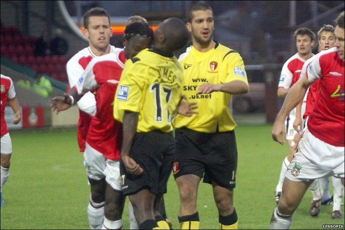 Wrexham Red Card Gold: Lamine Sakho gets  a notoriously abject dismissal against Hayes and Yeading.