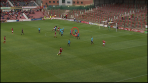A tight offside call against Aldershot